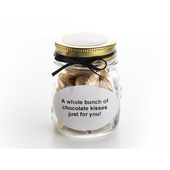 Chocolate Kisses In A Jar